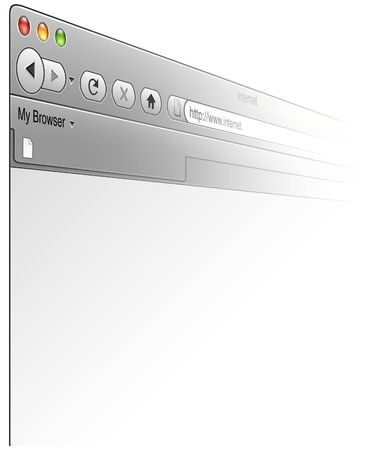 colored window: Browser Window - colored illustration, vector