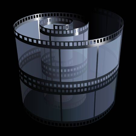mirroring: Filmstrip - detailed illustration, colored vector