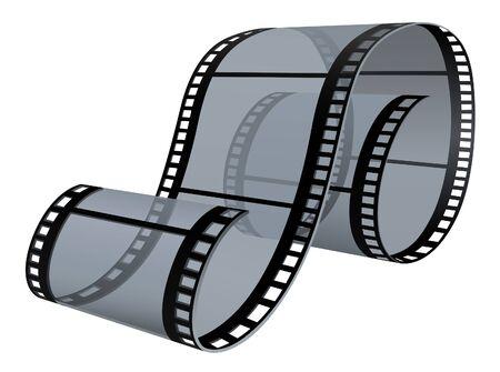 Filmstrip - detailed illustration, colored vector Vector