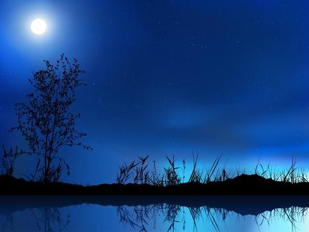 Cielo nocturno - coloreada de la ilustración de fondo,