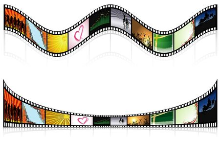 mirroring: Colored Filmstrip - detailed illustration