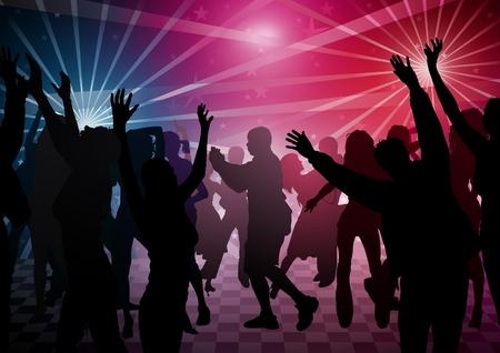Disco Dance - gekleurde achtergrond illustratie Vector Illustratie