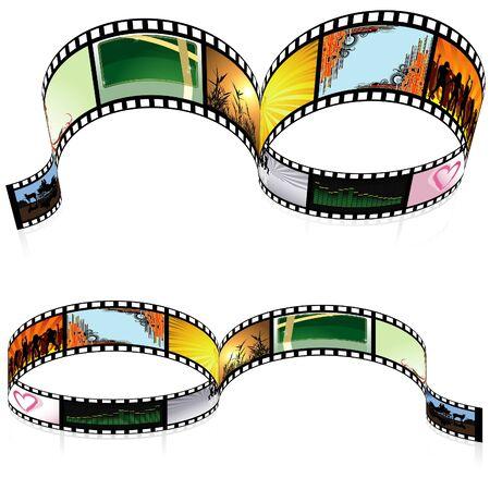 Colored Filmstrip - detailed illustration Vector