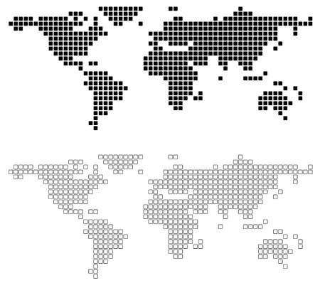 dotted world map: Abstract World Map - background illustration. Illustration