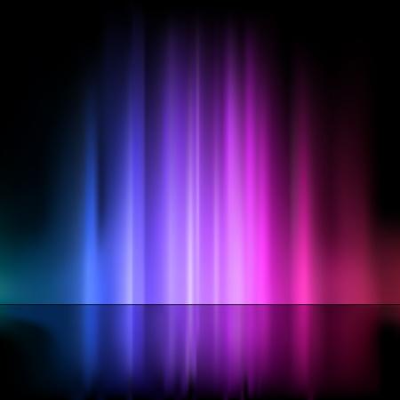 오로라: 컬러 빛 분수 - 추상적 인 배경 일러스트 레이 션, 벡터