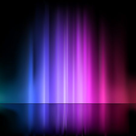 Colored Light Fountain - Abstract Background Illustration, Vector 矢量图像