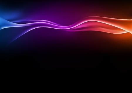 neon wallpaper: Onde astratte - illustrazione sfondo Vettoriali
