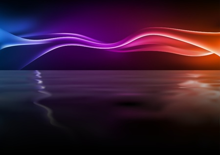 colored smoke: Abstract Waves - Background illustration with rippling effect