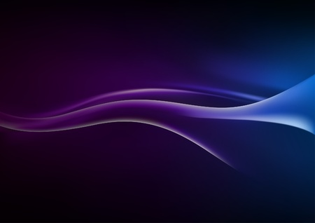 Abstract Wave - colored background illustration Vector
