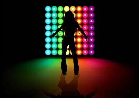 effetti di luce: Dancing Girl ed effetti di luce - illustrazione sfondo