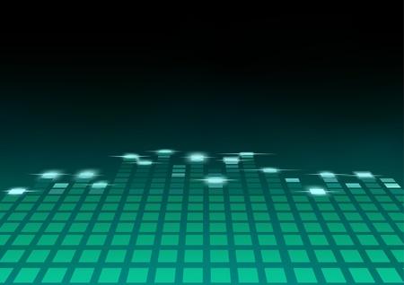musica electronica: Ecualizador - ilustración de fondo abstracto, Vector Vectores