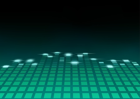 electronic music: Equalizer - abstract background illustration, Vector