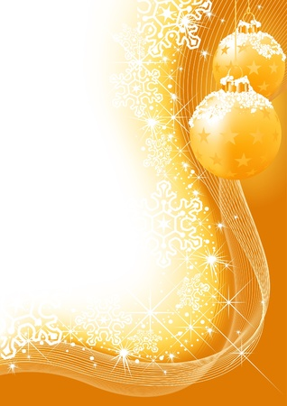 Christmas Background wirh Christmas Balls - Abstraction illustration, Vector