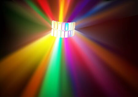 Disco Lights - colored background illustration.