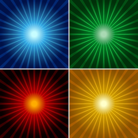 beams: Light Rays - Abstract Background Illustrations.