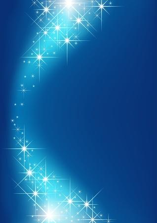 lucero: Fondo estrellado - fondo azul y estrellas como ilustración vectorial Vectores