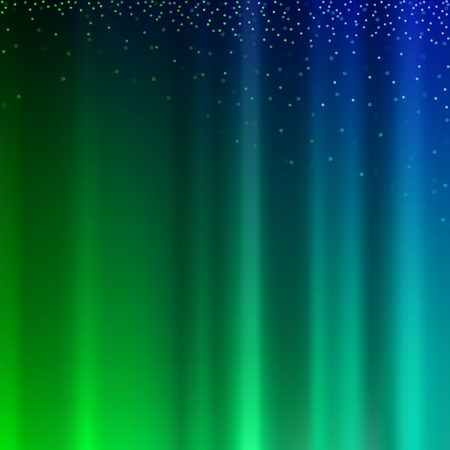 Abstract Light  Background - Colored Light Rays and Glitters, Vector Vector
