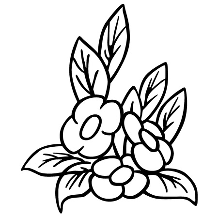 Flower black and white cartoon illustration royalty free cliparts flower black and white cartoon illustration stock vector 12483339 mightylinksfo