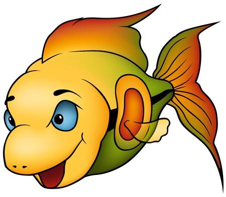 fish clipart: Tropical Fish - colored cartoon illustration