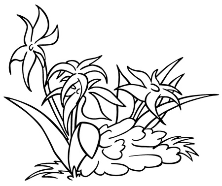 Flowers black and white cartoon illustration royalty free flowers black and white cartoon illustration stock vector 12483954 mightylinksfo