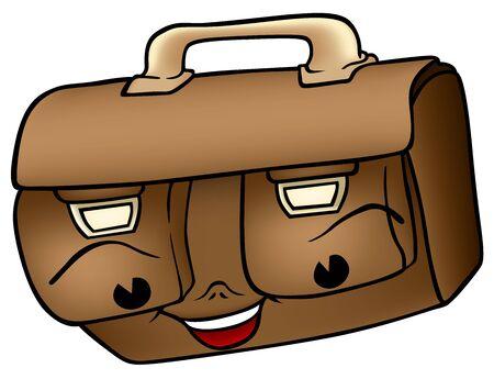 Schoolbag - Cartoon Illustration, Vector Stock Vector - 12868148