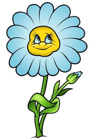 blumen cartoon: Daisy Flower - Cartoon Illustration, Vektor