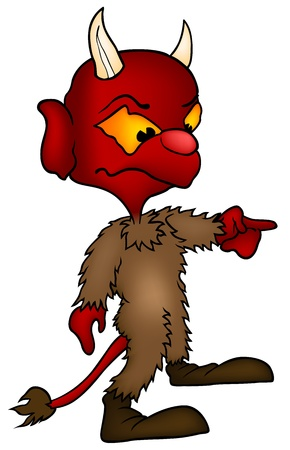 Devil - colored cartoon illustration, vector Ilustrace