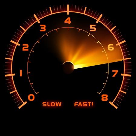 compteur de vitesse: Indicateur de vitesse - Illustration de couleur