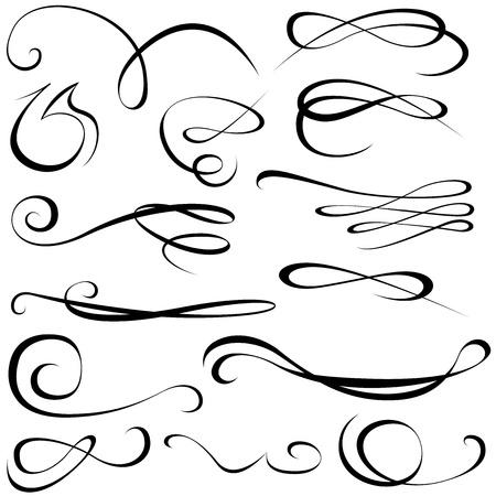 Elementos caligráficos Foto de archivo - 13341820