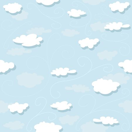 repetitive: Clouds Pattern - Repetitive Illustration, Vector Illustration