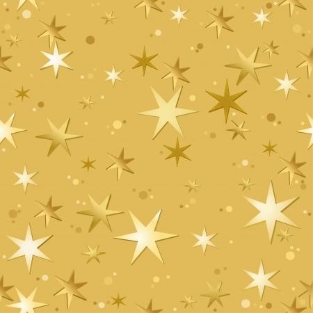gouden ster: Sterren Patroon - Repetitive Illustratie, Vector Stock Illustratie