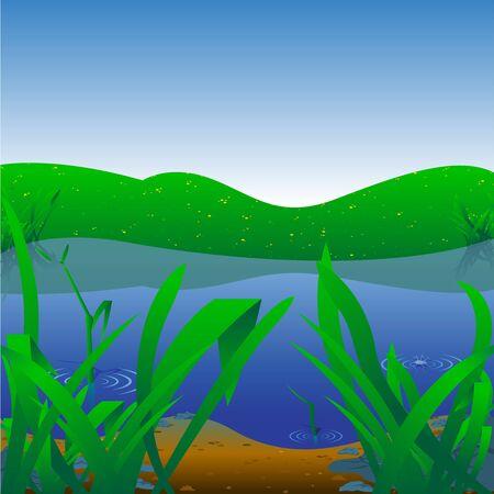 Background Illustration - Summer Landscape Stock Vector - 13829266