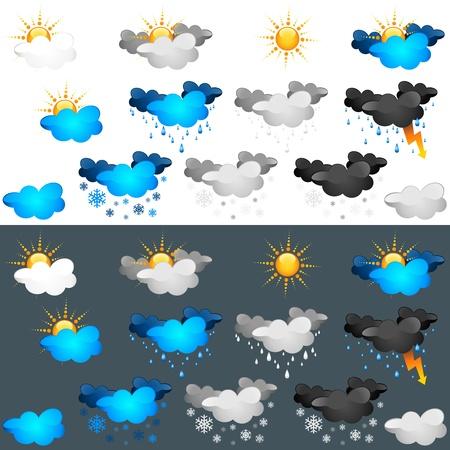 rains: Weather Icon Set - colorede illustration
