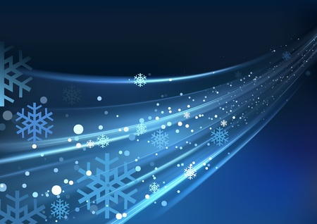 Blue Abstract Xmas - Christmas Background Stock Vector - 14236569