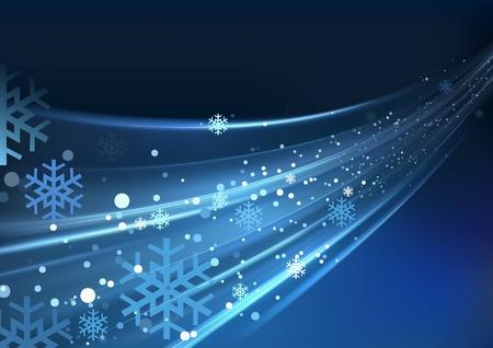 Blue Abstract Xmas - Christmas Background Illustration