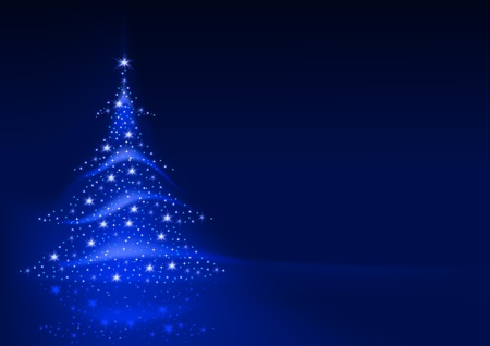 christmas backgrounds: Abstract Christmas Tree - background illustration