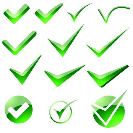Glossy Check Mark - Illustration 免版税图像 - 14605774