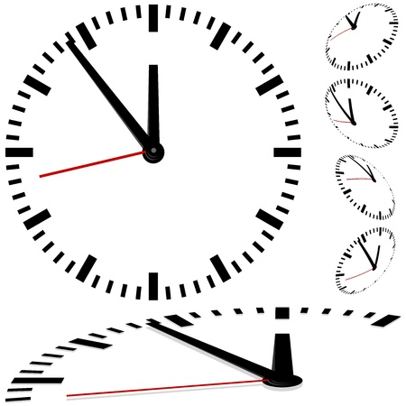 second hand: Clock - colored illustration of a clock