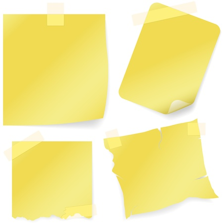 adhesive tape: Sticky Note Icon - colored illustration