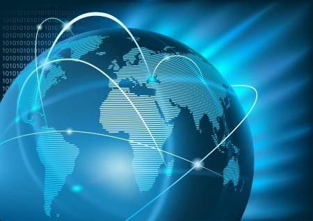 Internet Global Business - achtergrond afbeelding, Vector