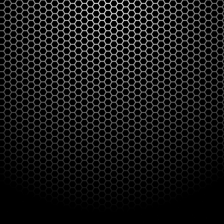 Texture of metallic mesh - Background Pattern Stock Vector - 14850149