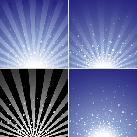 spot lit: Star Burst Set - Abstract Background Collection, Vector Illustration Illustration