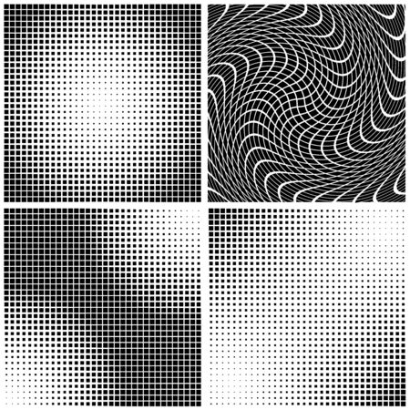 gain: Dot Gain Textures - Black Illustration, Vector