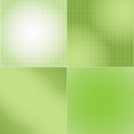 gradation: Halftone Screen Gradation Set - Backgrounds Illustration, Vector Illustration