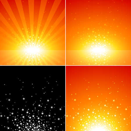 sun lit: Star Burst Set - Abstract Background Collection, Vector Illustration