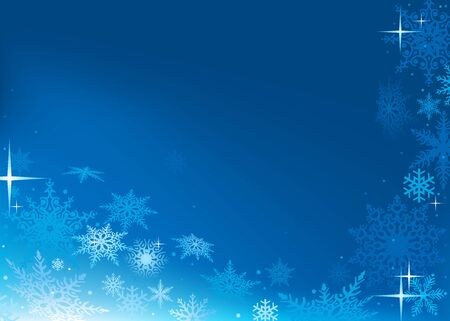 Blue Abstract Xmas Background - Christmas Illustration Stock Vector - 15017014
