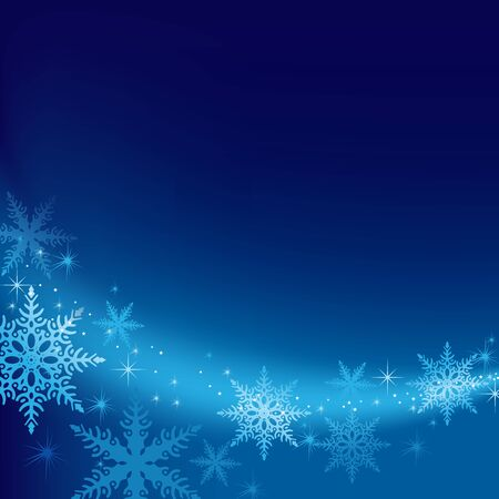 Blue Xmas Background - Christmas Illustration, Vector Stock Vector - 15080993
