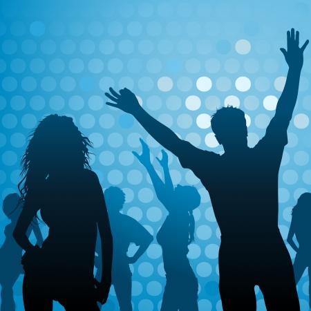 Dance Party - Night Club Life als Illustratie Stock Illustratie