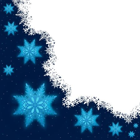 Blue Snowflakes - Christmas Background Illustration Stock Vector - 15080999