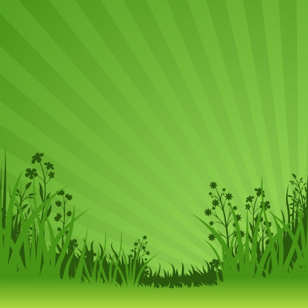 Green Nature Background - Abstract Illustration Illustration